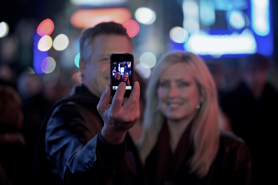 Couple Selfie - Times Square