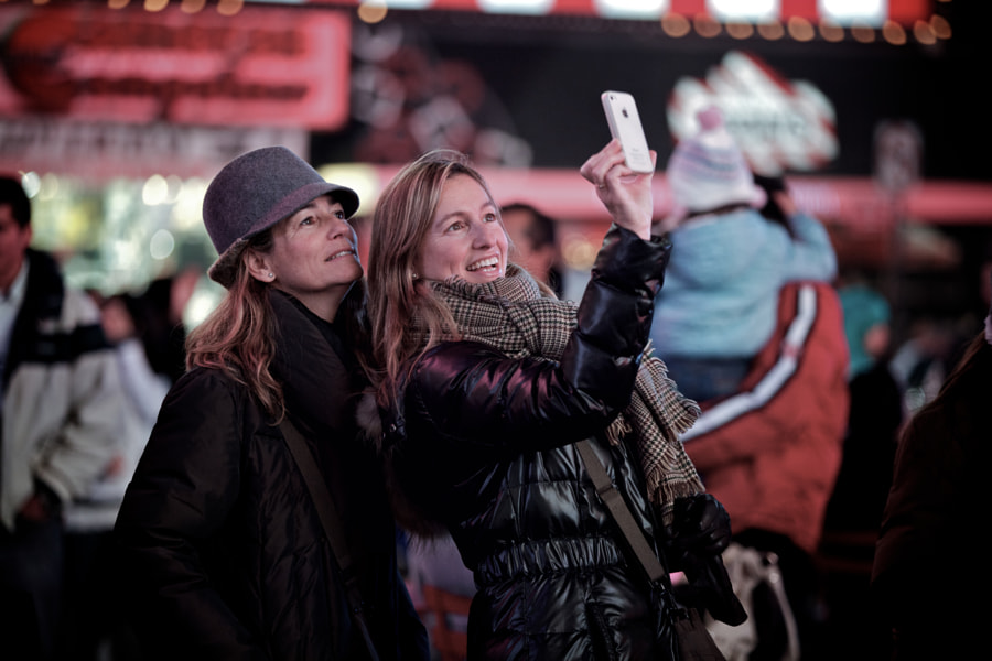 Spanish Tourists in Times Square