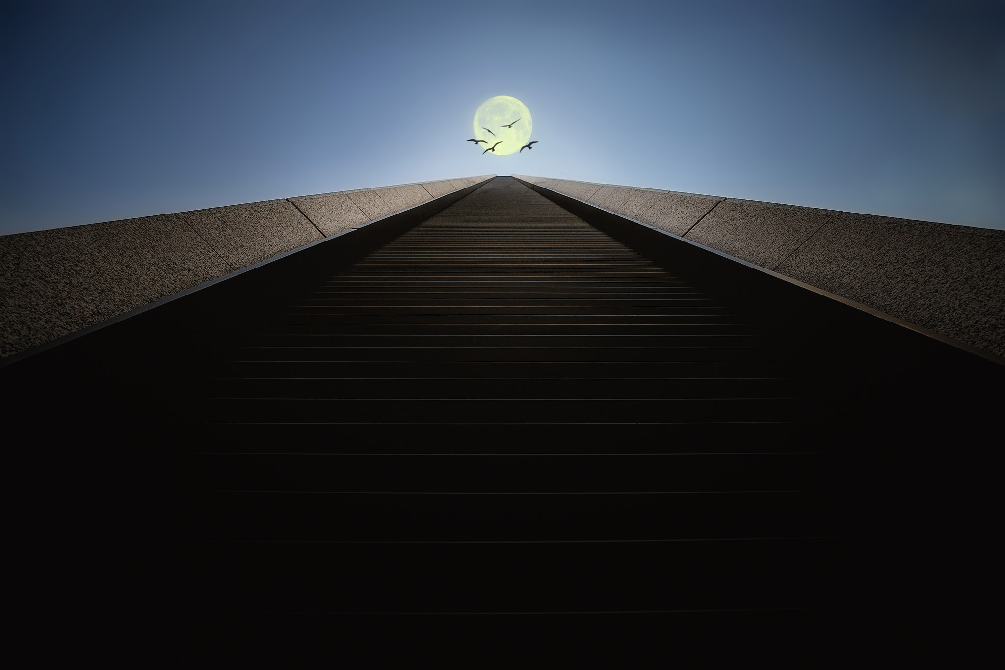 Photograph The Stairs to the Moon by Dr. Akira TAKAUE on 500px