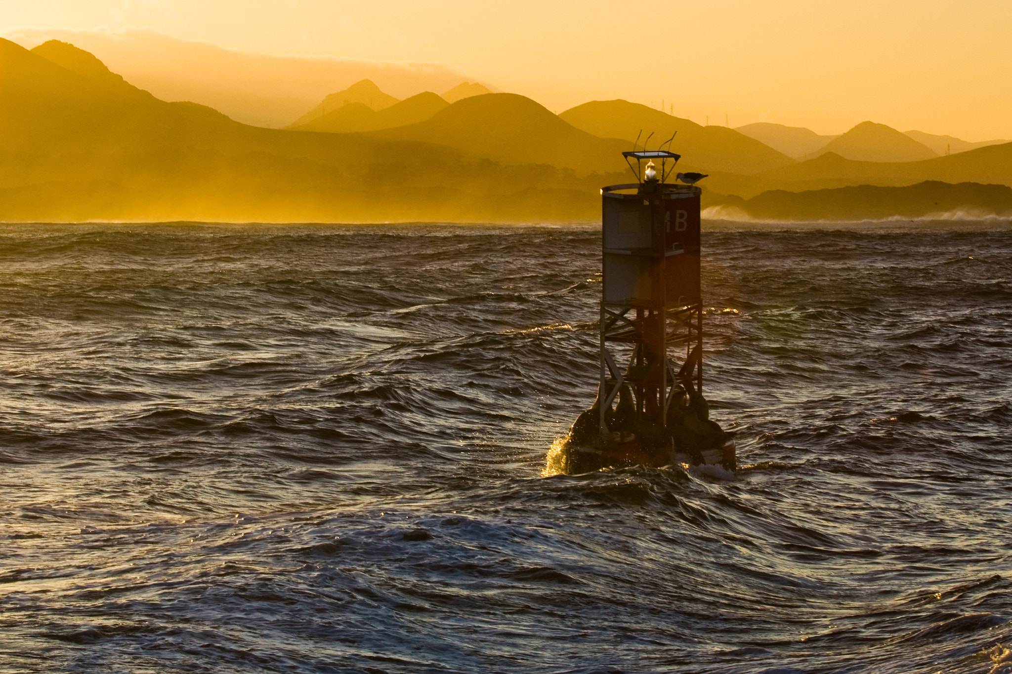 Photograph The Morro Bay MB Buoy and Seven Sisters Morros by Mike Baird on 500px