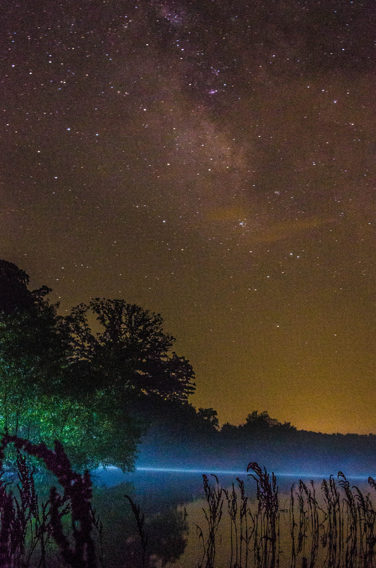 Photograph Pond Fishing Under the Milky Way by Jerry Dean on 500px