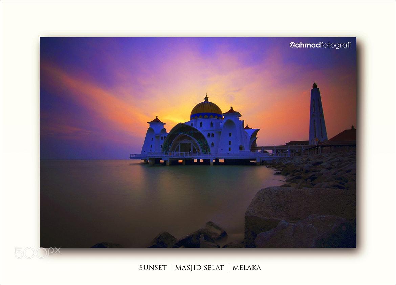 Photograph Sunset | Floating Mosque | Melaka by Ahmad ikram Mohamed on 500px