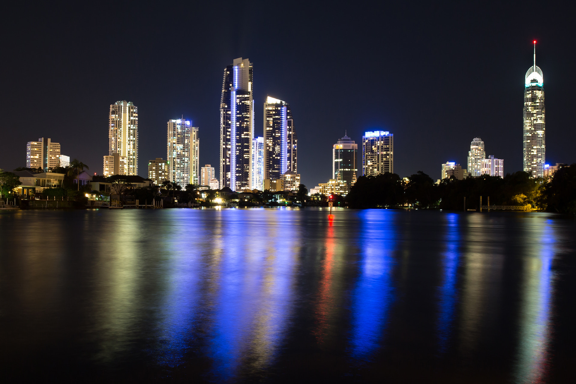 Photograph Surfers Paradise Illumination by Klaye Morrison on 500px