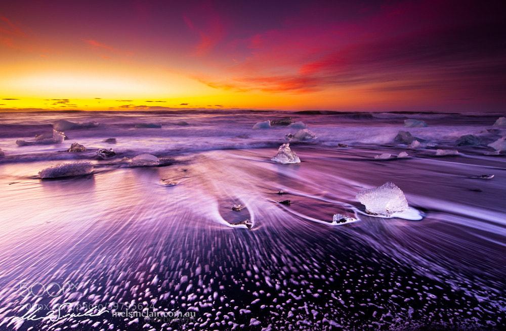 Photograph Jökulsá Sunrise by Mel Sinclair on 500px