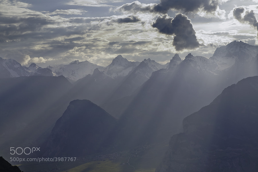 MOUNTAIN LIGHT IN THE ALPS NR SION SWITZERLAND