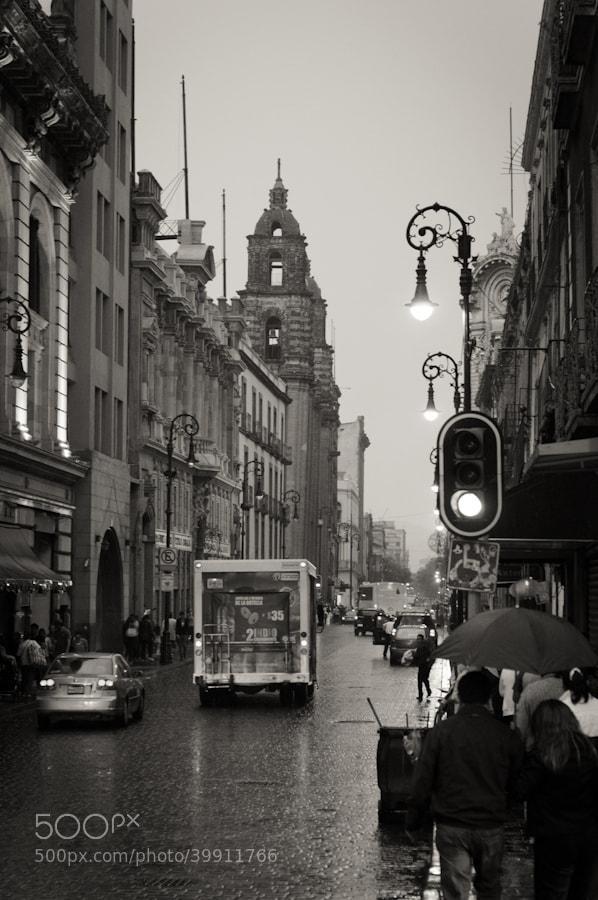 Photograph Zocalo + Rain by Luis Rodriguez Ochoa on 500px