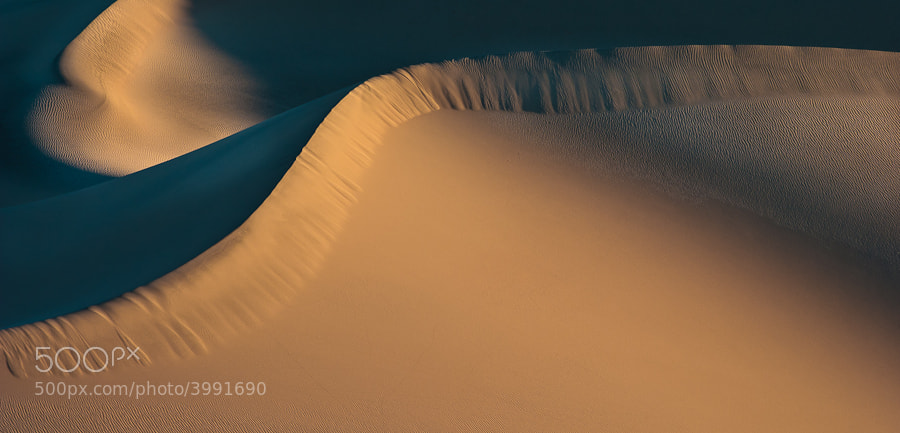 Sand dune waves in Death Valley.