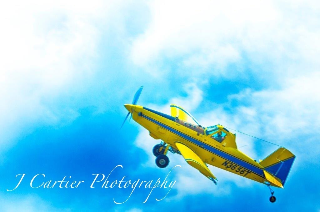 Photograph Crop Duster in Blue Sky by Jerome Cartier on 500px