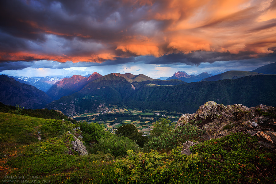 Photograph Sunset from above Valbonnais by Maxime Courty on 500px