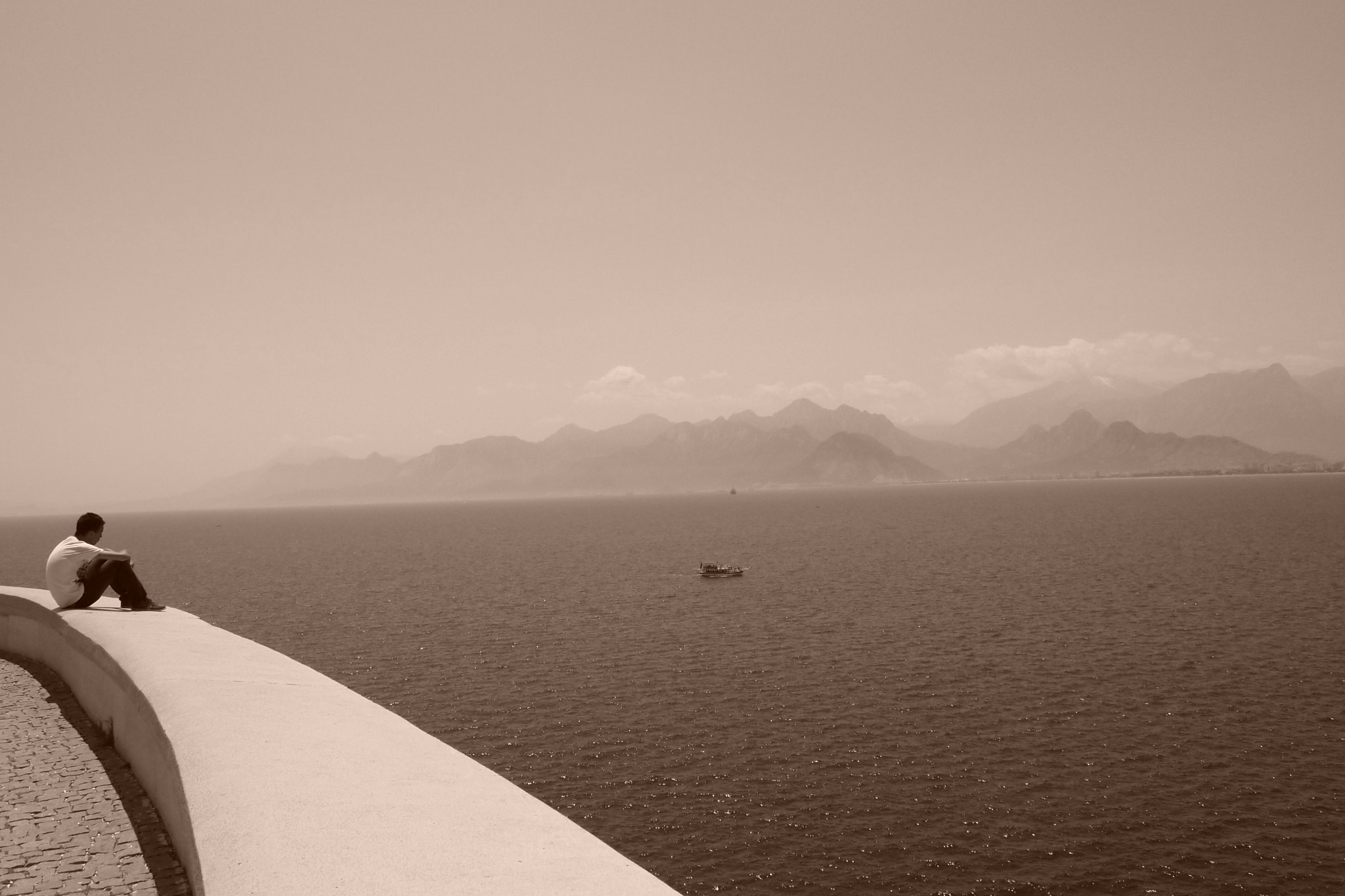 Photograph Overlooking the Mediterranean Sea by Alok Sharma on 500px