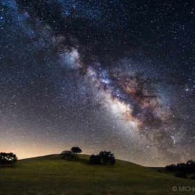 Rolling Hills & The Galaxy Above by Michael Shainblum on 500px.com