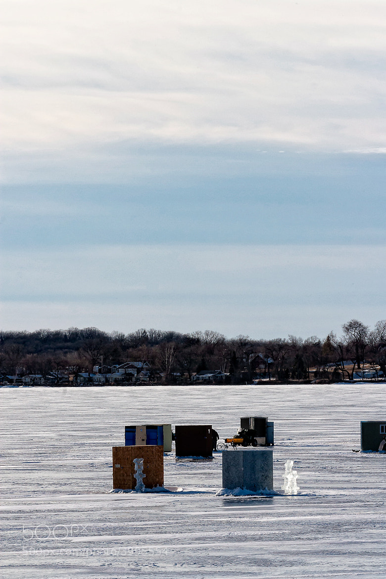 Photograph Fish Houses on Detroit Lakes by Michael  Stenhjem on 500px