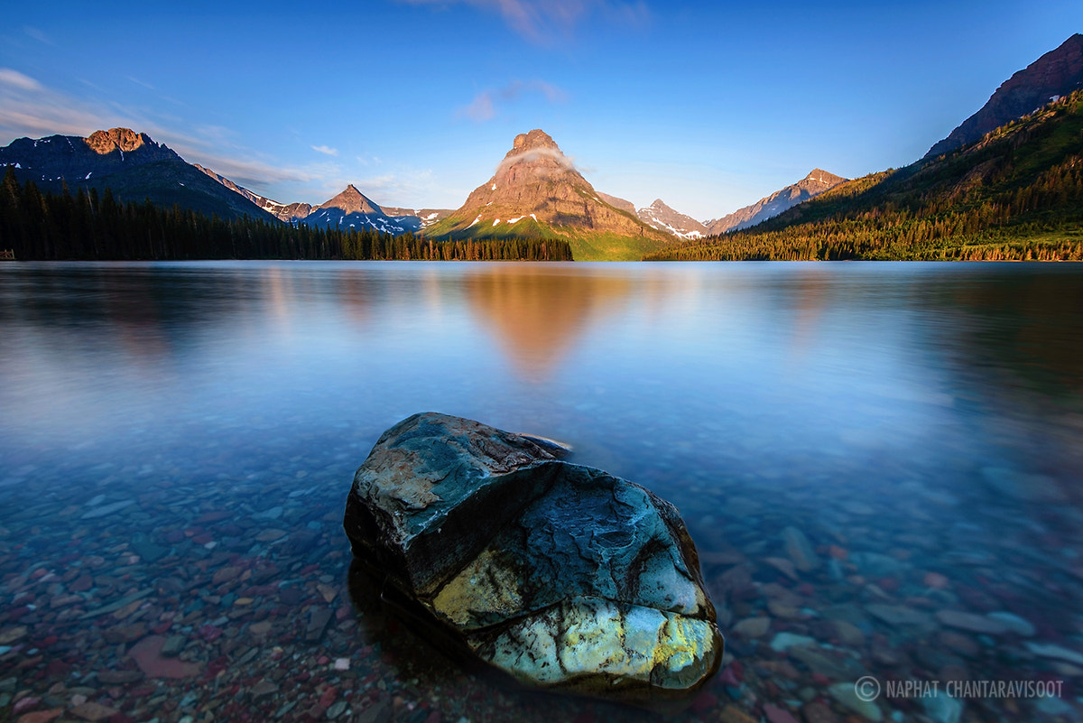 Photograph Two Medicine Lake in the Morning by Nae Chantaravisoot on 500px