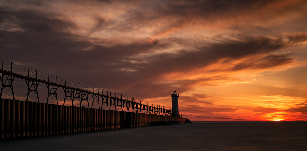 Photograph Manistee Sunset by Sheldon Spurrell on 500px