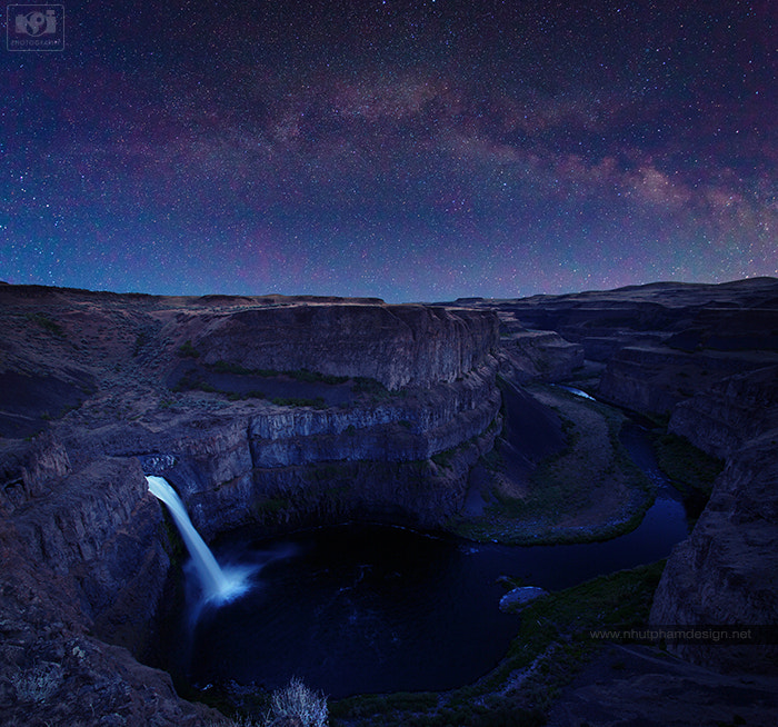 Photograph Palouse Falls and Milky Way by Nhut Pham on 500px