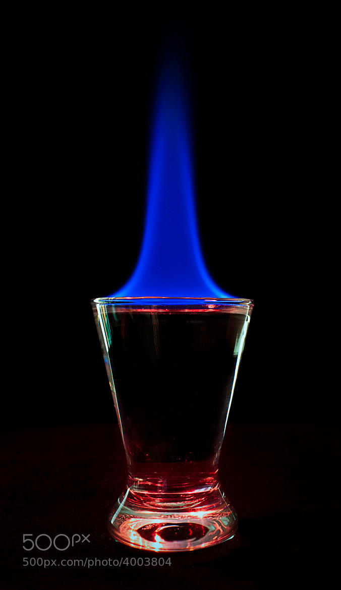 Photograph Flaming Alcohol by Dade Freeman on 500px