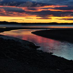 fishing in the morning on the buskin river kodiak alaska