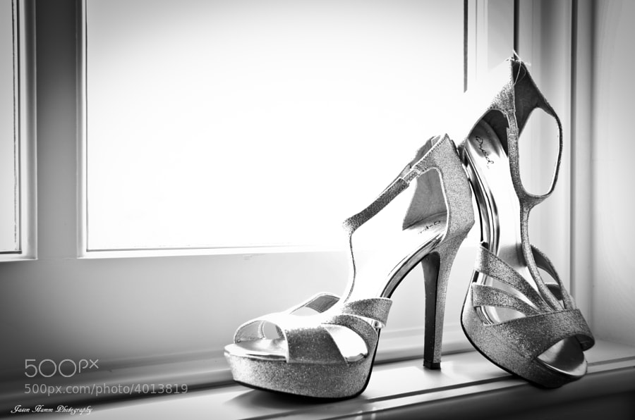 Photograph Wedding Shoes Window by Jason Hamm on 500px