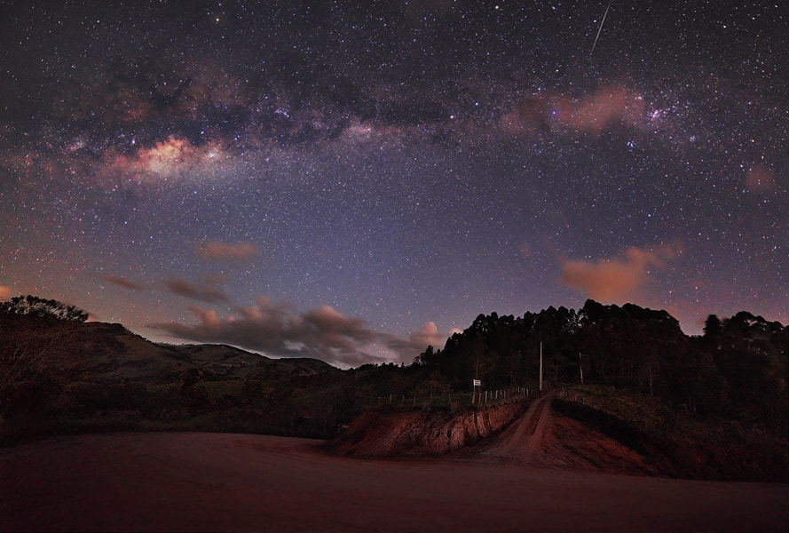 Photograph Milky Way over green mountains by Rafael Defavari on 500px