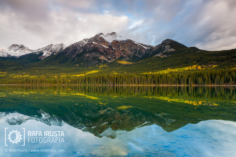 Photograph Pyramid Lake and Pyramid Mountain, Canada by Rafa Irusta on 500px