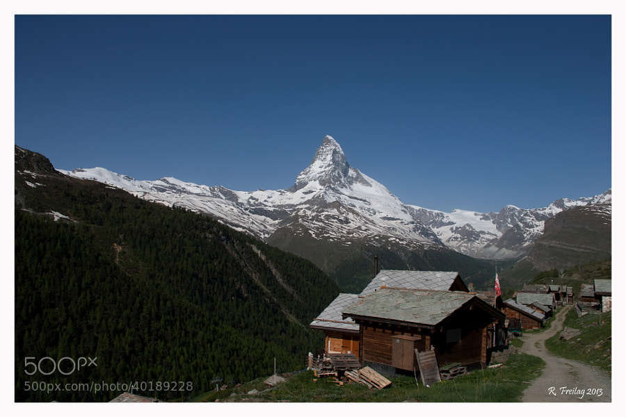 I took this Picture on my hiking trip near Zermatt. The Matterhorn is the most photographed mountain in the world and stands for Switzerland ist Quality. And indeed, the mountain is a real Beauty.