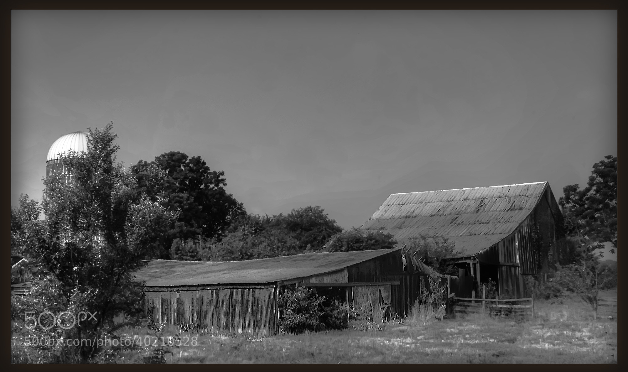 Photograph Old  Barn Black and White by Gene  Brooking on 500px