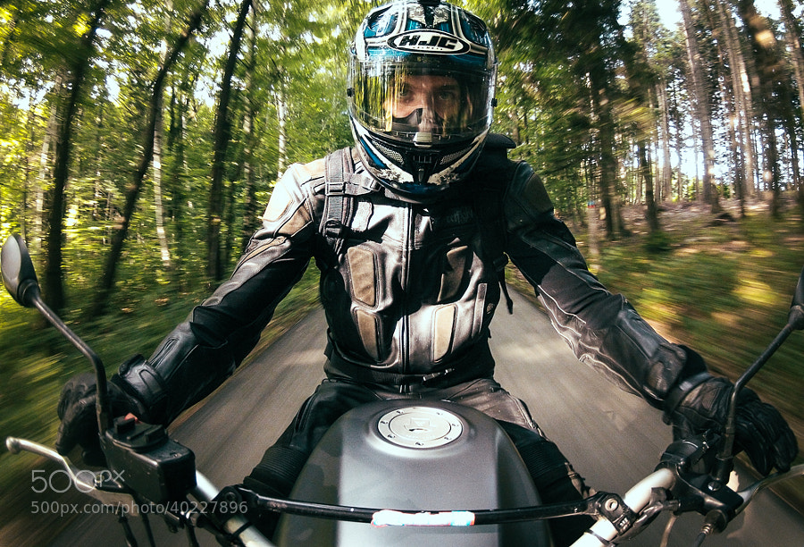 Photograph motorcycle selfie by Valentin Kouba on 500px