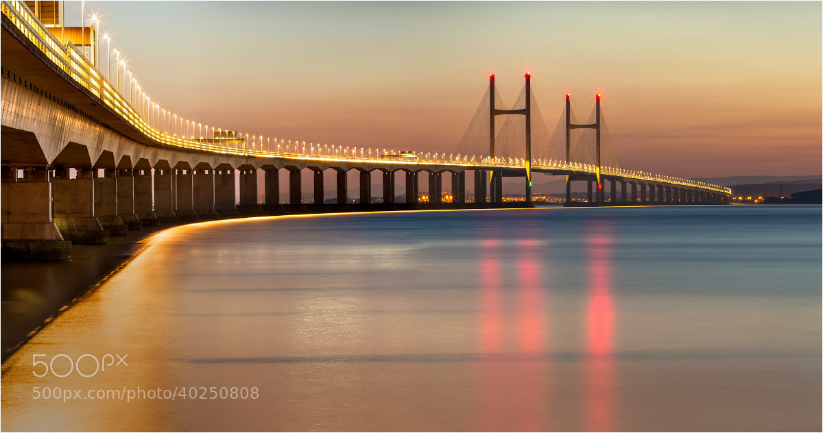 Photograph Dusk - Severn Bridge by Chris Beard on 500px