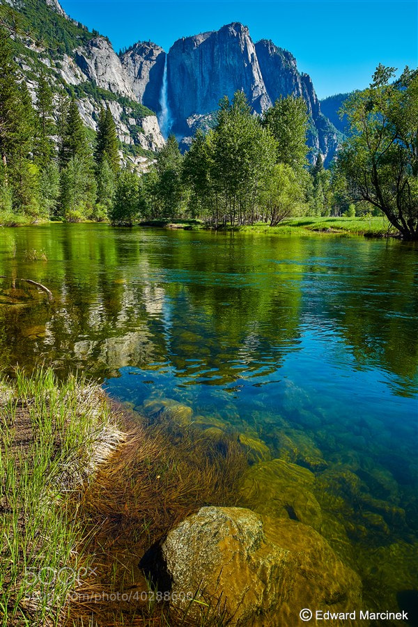 Photograph Yosemite Falls Reflections by Edward Marcinek on 500px