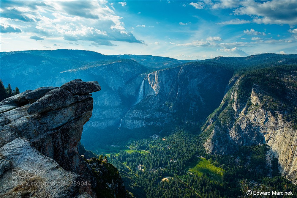 Photograph Curry Village from Glacier Point - Yosemite by Edward Marcinek on 500px