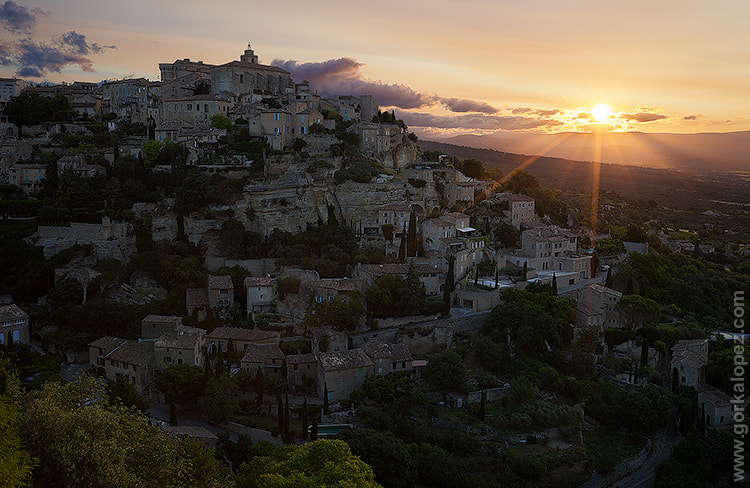 Photograph Sunrise over Gordes by Gorka Lopez on 500px