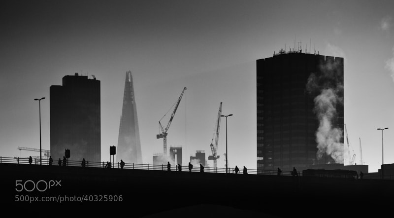 Photograph Waterloo Commuters by Chris Sargent on 500px