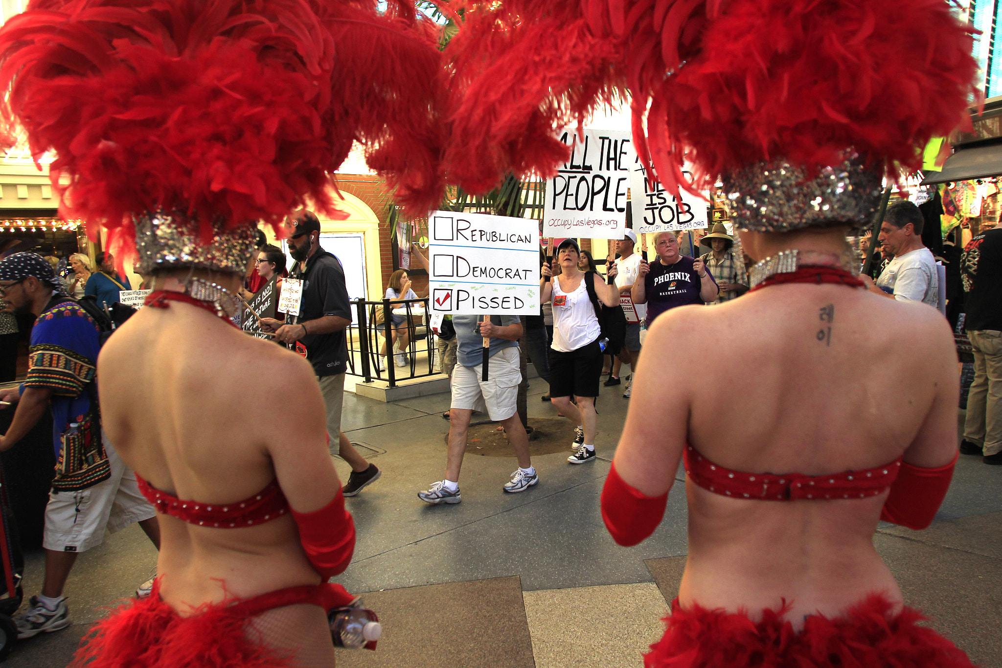 Photograph Occupy Las Vegas Fremont Street by Sam Morris on 500px