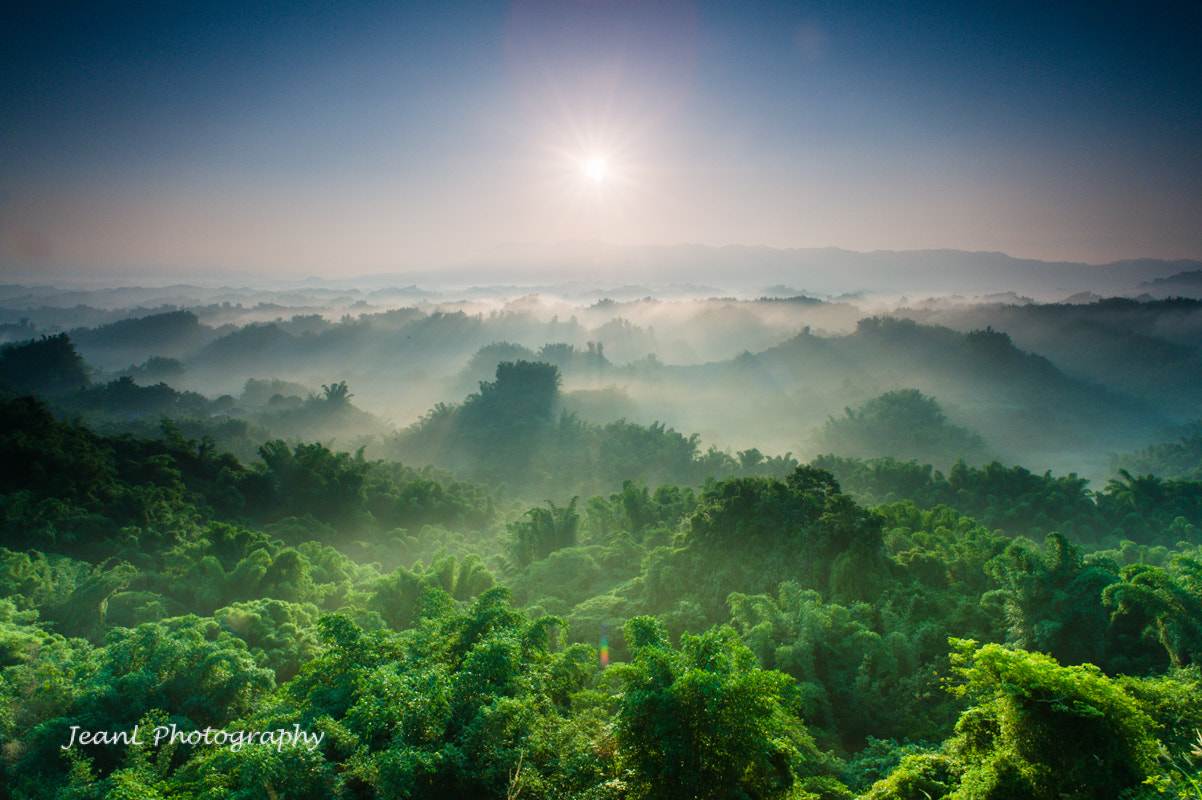 Photograph Sunrise in the Misty Green by Jean Li on 500px