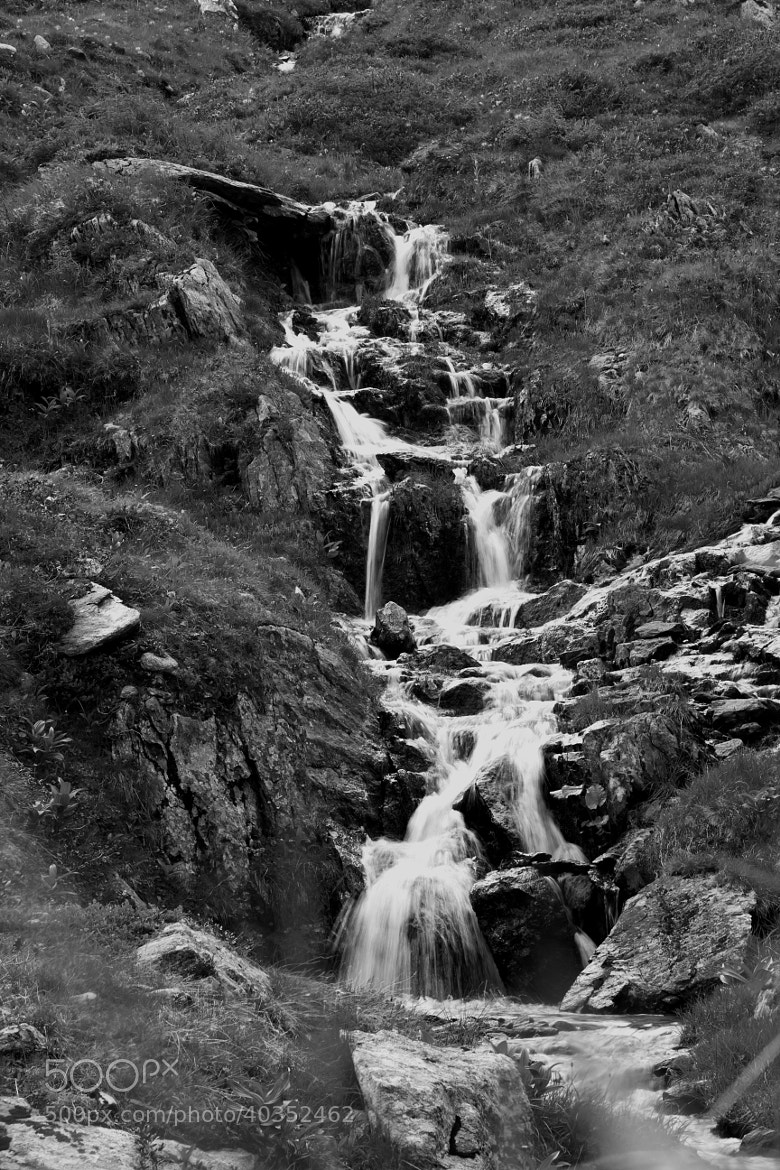 Photograph the water falls in black and white by Johannes Bauer on 500px