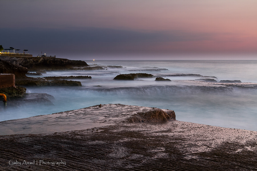 Photograph Rocks and sunset by Gaby Awad on 500px