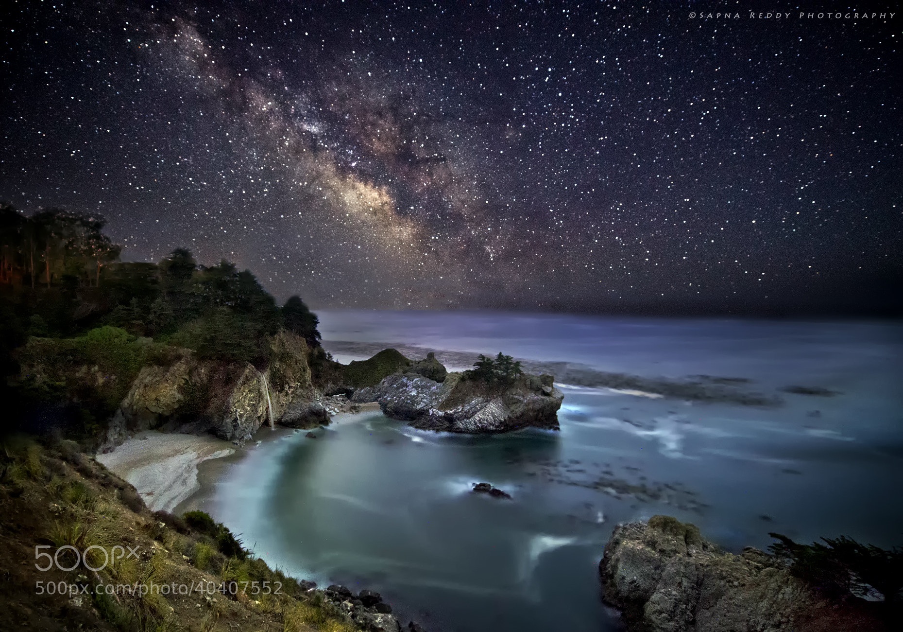 Photograph Milky way to Mc Way Falls. by Sapna Reddy on 500px
