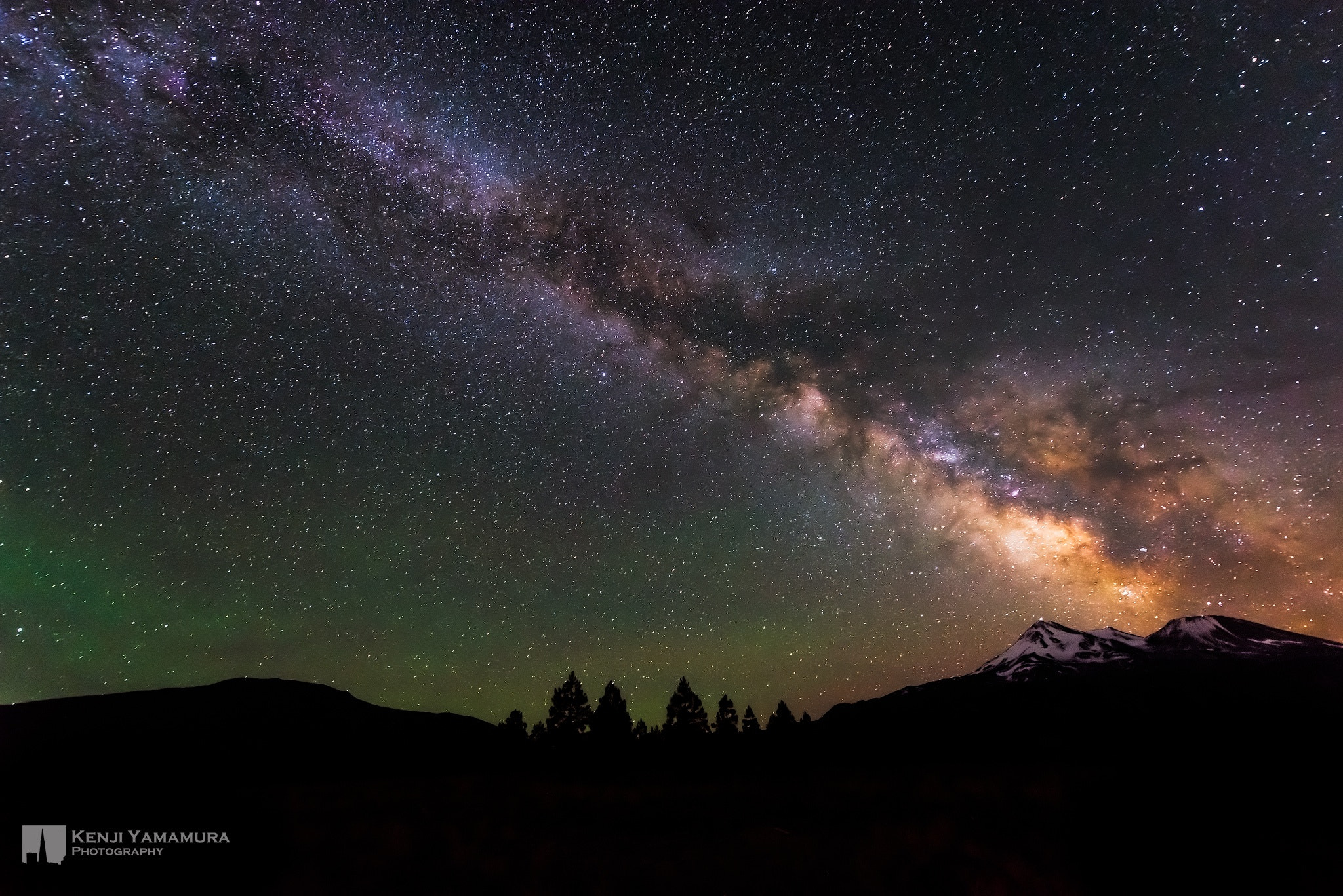 Photograph Milky Way Over Mt.Shasta by Kenji Yamamura on 500px