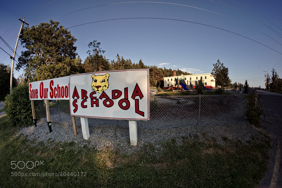 Sun sets on Arcadia School by Instant Kamera on 500px.com