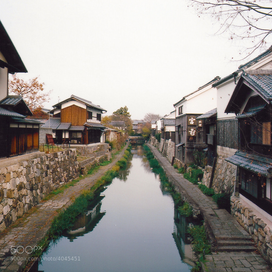 A remarkable prototype town of the old Japan in Shiga, Japan.
