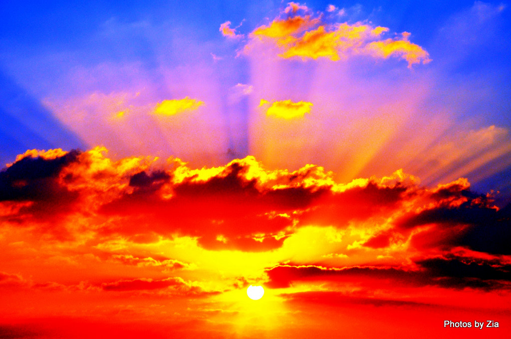 Photograph fire in the sky by Mohammed Zia Akhter on 500px