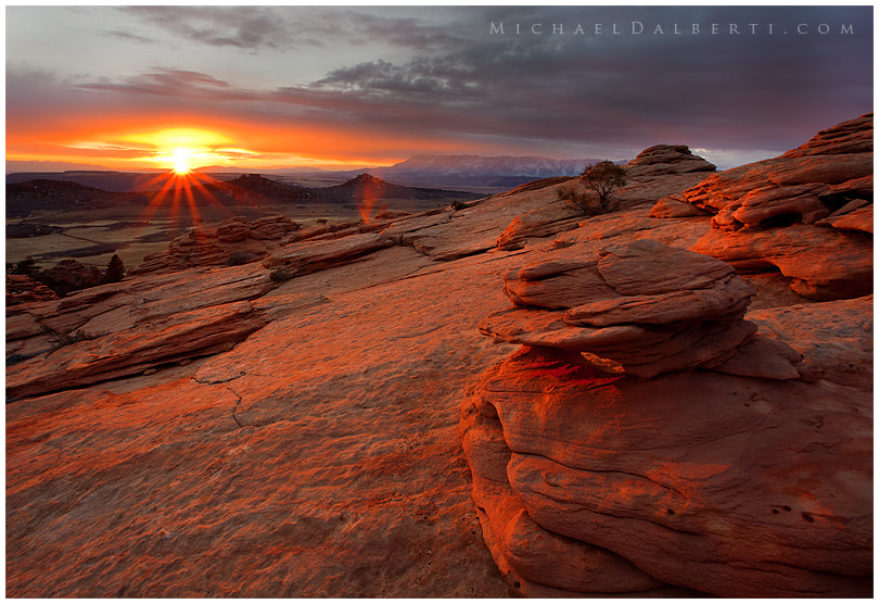 Sunset of Kolob Terrace Road by Michael Dalberti