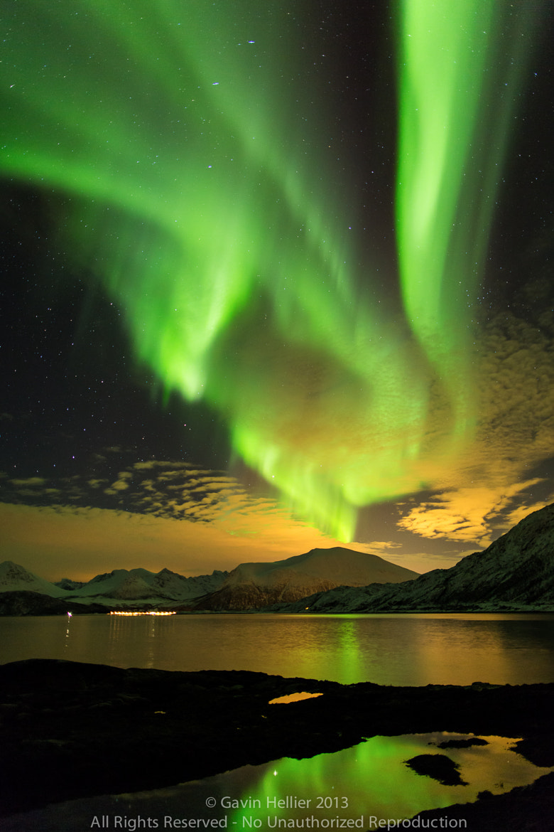 Photograph Aurora Borealis, Northern Lights, Troms region, Norway by Gavin Hellier on 500px