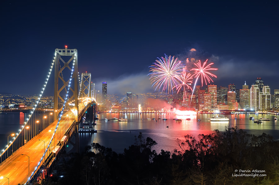 San Francisco New Years Fireworks - Happy New Year 2012 by Darvin Atkeson on 500px.com