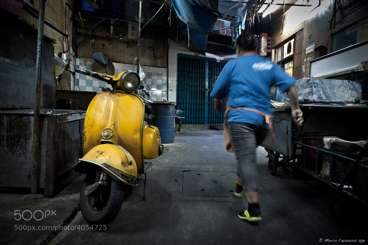 Photograph Chinatown Vespa by Marco Cavasassi on 500px