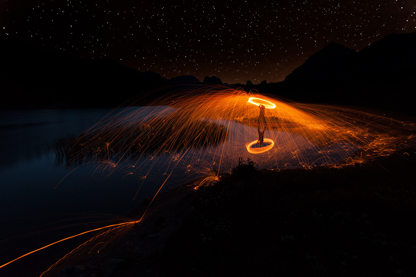 Photograph Steel Fire Under the Stars   by Francesco  Bogetti on 500px