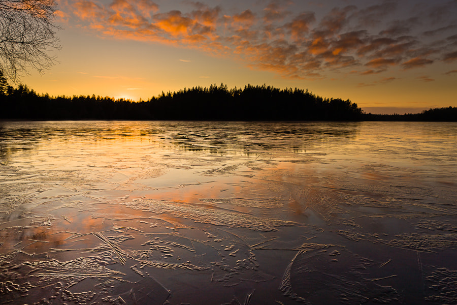 Taken at sunset on the last day of 2011 in Sweden.