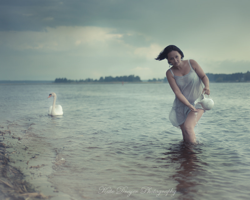 Photograph Water Girl And a Swan by Kate Dreyer on 500px