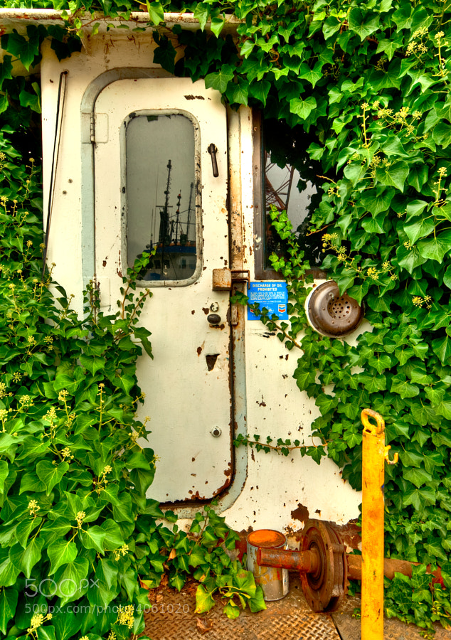 This relic was found tucked away on the docks of North Lake Union in Seatlle, during an Adobe Photowalk.