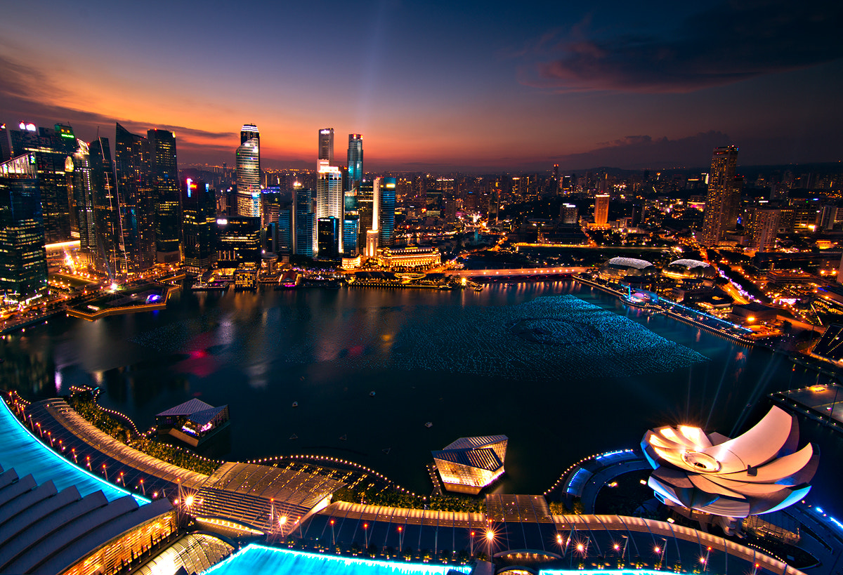 Photograph Sunset over Sky Park MBS by Jose Hamra on 500px